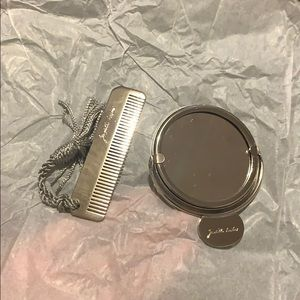 Judith Leiber mirror and comb travel pieces